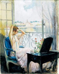 jeune femme à sa toilette by william ablett