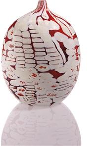 unique mosaico informale bianco e rosso vase by yoichi ohira