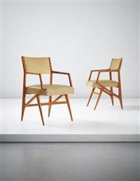 pair of rare armchairs, model no. 835 by gio ponti