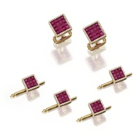 dress set comprising a pair of cufflinks and studs (set of 5) by aletto brothers (co.)