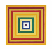 scramble: descending yellow values / ascending spectrum by frank stella