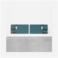 pair of headboards from the hotel parco dei principi, rome by gio ponti