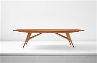 unique and large dining table by gio ponti