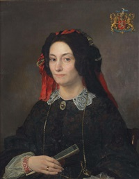 portrait of marie joséphine jacoba van marcke de lummen (1818-1894) by sir lawrence alma-tadema
