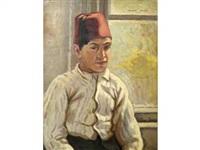 jeune garçon au keffieh by malik aksel