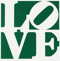 green peace love by robert indiana