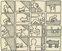 the blueprint drawings: one plate by keith haring