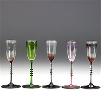 cordial glasses (set of 5) by karl g. koepping