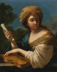 saint cecilia by giovanni francesco romanelli
