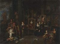 l'atelier du peintre (+ l'atelier du sculpteur; pair) by balthasar van den bossche
