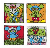 andy mouse (set of 4) by keith haring