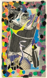 the battering ram (from moby dick deckle edges) by frank stella
