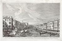 ex ponte rivoalti ad orientem (rom urbis venetarium prospectus) (after canaletto) by antonio visentini