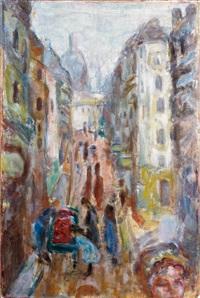 paris, rue tholozé by pierre bonnard