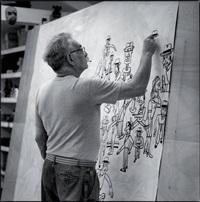 antonio segui dans son atelier by roberto battistini