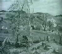 spring at brae head farm by muriel curr