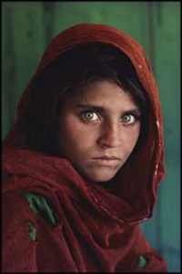 afghan girl, sharbut gula, pakistan by steve mccurry