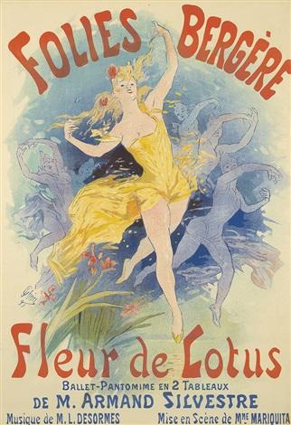 Folies Bergère Fleur De Lotus 1893 Von Jules Chéret Auf Artnet