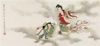瑶池献寿图 by liu lingcang