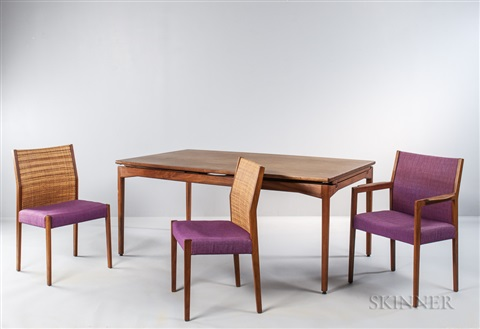 Jens Risom Floating Dining Table And Six Chairs Von Jens Risom Auf Artnet