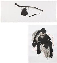 black concentrated; and calligraphy i by robert motherwell