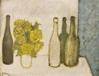 still life with bottles by douglas portway