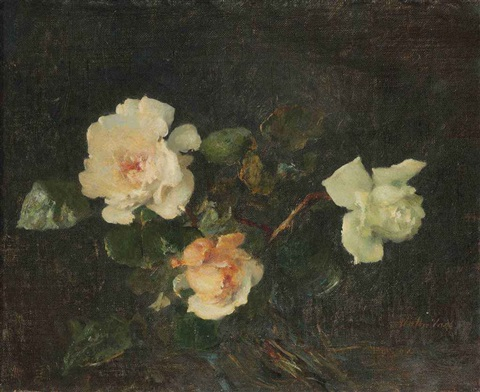 a still life with roses by walter vaes