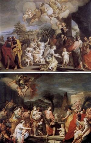 non date scandalo ai fanciulli lasciate che i fanciulli vengano a me 1708 sgd 2 works by alessandro marchesini