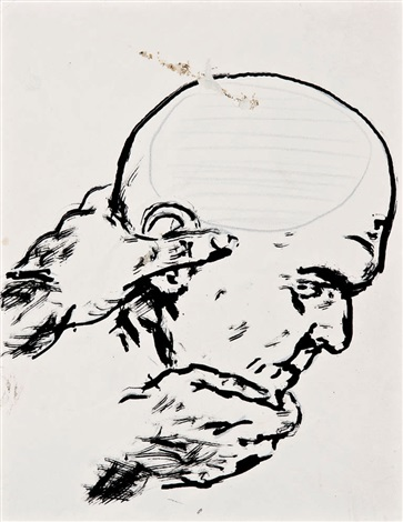 group of drawings set of 6 by raymond pettibon
