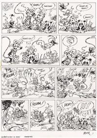 marsupilami, planche 12 (from album le bébé du bout du monde) by batem