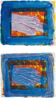 two's company (a); and two's company (b) by howard hodgkin