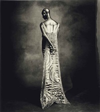 callot swallow-tail dress, 1974 by irving penn