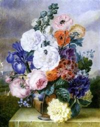 fleurs dans un vase étrusque by adèle riché