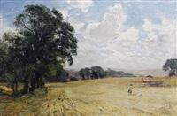 children in a field by james aumonier