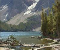 slide lake, windriver, wyoming by clyde aspevig