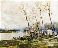 vue de la lys by albert saverys