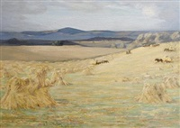 harvest time, berwick by james hermiston haig
