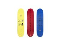 supreme skate decks - spin (set of 3) by damien hirst