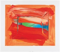 the sky's the limit by howard hodgkin