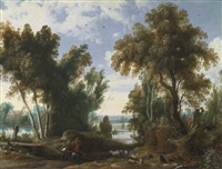 landscape with peasants by jan wildens