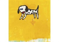 dog in yellow by yoshitomo nara