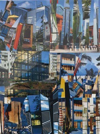 architecture collage by isa genzken