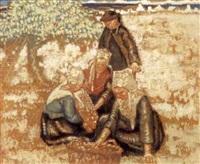 cueillette des pommes à plougastel by georges rasetti