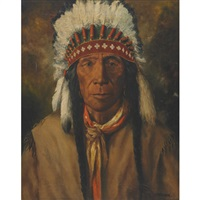 portrait of an indian chief by henry metzger