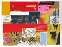 colored lithograph lincoln center festival by sam gilliam