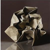 un gran papel arrugado by peter von artens