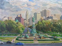 logan circle, philadelphia by joseph y. arnold