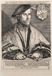 portrait de guillaume duc de juliers by heinrich aldegrever