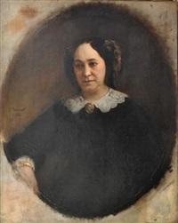 portrait de madame bonnat assise by léon joseph florentin bonnat