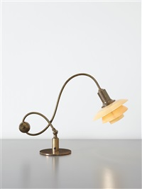 adjustable piano lamp, with type 2/2 shades by poul henningsen